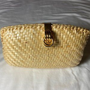Talbots Woven Cane Clutch and Chain Shoulder Bag